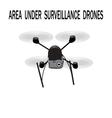 Image drone Caption area under surveillance vector image