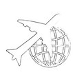 isolated big airplane vector image vector image