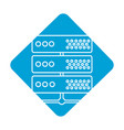 label digital router to connect data center vector image