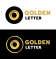 Letter O number 0 logo icon design template vector image vector image