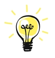 light bulb icon idea concept vector image vector image