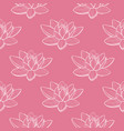 lotus pattern in hand drawn style vector image