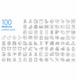 medicine outline iconset vector image vector image