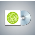 Mixed CD Cover Mockup Template with Lettering vector image
