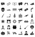 movie icons set simle style vector image vector image