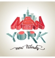 New York city 3d typography vector image vector image