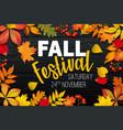 november fall autumn festival announcement vector image