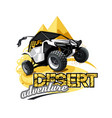 off-road atv buggy logo desert adventure vector image vector image