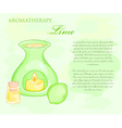 oil burner with lime and essential oil vector image