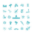 outline icons cuban culture vector image vector image