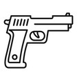 policeman pistol icon outline style vector image vector image