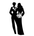 queer wedding couple newly married lesbian vector image