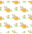 ripe pumpkin with curly stem seamless pattern vector image vector image
