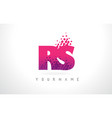 rs r s letter logo with pink purple color and vector image