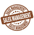 sales management brown grunge stamp vector image vector image