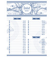 sea food restaurant cafe menu design vector image vector image