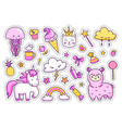 set of magic stickers vector image vector image