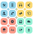set of simple newspaper icons vector image vector image