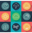 set of weather flat icons vector image vector image