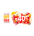 shop now off sale 40 interest discount limited vector image vector image