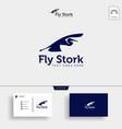 stork business logo template creative vector image