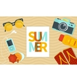 Summer banner template vector image vector image