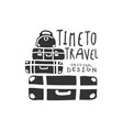 time to travel logo with travelers luggage vector image