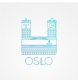 Town hall The symbol of Oslo Norway vector image vector image
