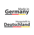 two simple symbols made in germany vector image vector image