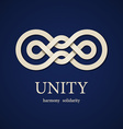 unity paper knot design template vector image vector image