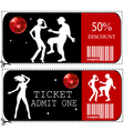 Voucher ticket vector image vector image