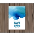 wedding invitation with watercolor stain vector image vector image