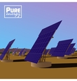 Solar power plant Eco saving technology vector image