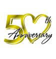 50th Anniversary vector image