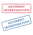 accident investigation textile stamps vector image vector image