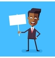 African american businessman holding banner vector image vector image