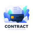 bank document with credit card stock isolated vector image vector image