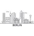 berlin architecture line skyline vector image vector image