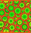 bright pattern citrus slice in an acidic vector image