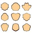 brown vintage frames - set vector image