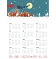 Calendar 2016Santa coming to the cityVertical vector image