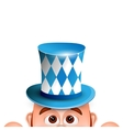 Cartoon Leprechaun in a bavarian hat Card for vector image