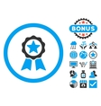 Certification Seal Flat Icon with Bonus vector image vector image