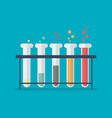 chemical laboratory equipment test tubes vector image