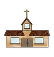 church building icon vector image