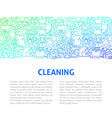 cleaning line design template vector image vector image