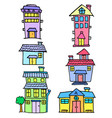 collection of house set art vector image vector image