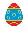 color easter egg cartoon spring decoration vector image