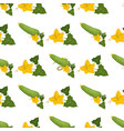 cucumber fruit and yellow blossom seamless pattern vector image vector image