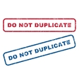 Do Not Duplicate Rubber Stamps vector image vector image